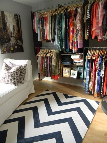 A perfectly organized closet