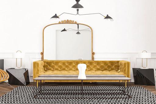 Velvet upholstery